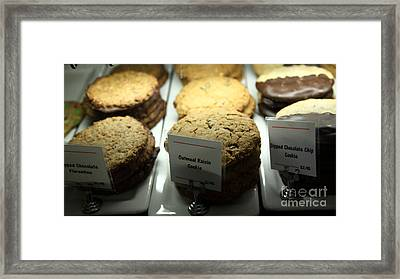Sweet Treats - Cookies - 5d20706 Framed Print by Wingsdomain Art and Photography