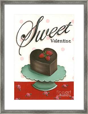 Sweet Valentine  Framed Print by Catherine Holman