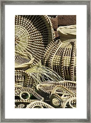 Sweetgrass Baskets - D002362 Framed Print by Daniel Dempster