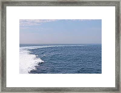 Swell Day On The Ocean Framed Print by Gill Billington