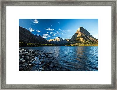 Swiftcurrent Lake Framed Print by Todd Klassy