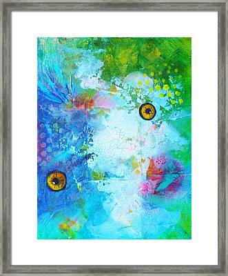 Swimming Framed Print by Nancy Merkle
