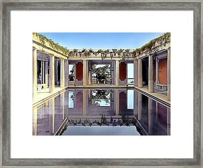 Swimming Pool Framed Print by Terry Reynoldson