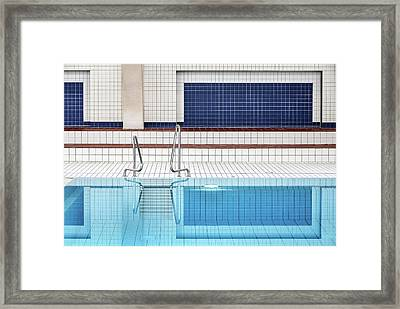 Swimming Framed Print by Renate Reichert