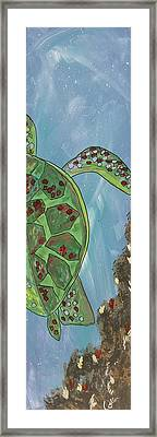 Swimming With The Turtles Framed Print by Marcia Weller-Wenbert