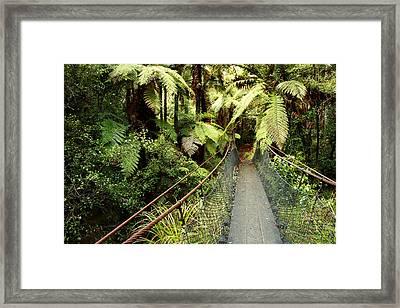 Swing Bridge Framed Print by Les Cunliffe