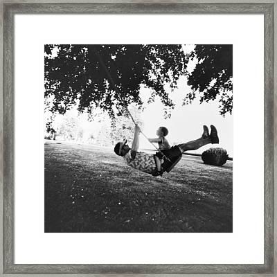 Swing High Sweet Chariot Framed Print by Natasha Marco