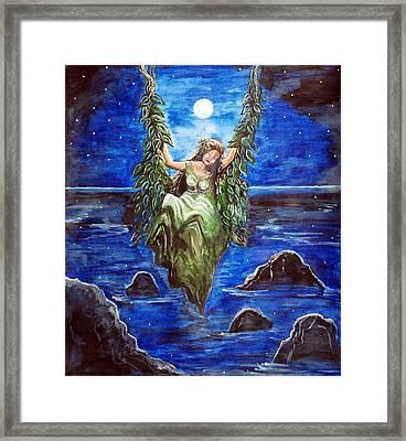 Swing In Moonlight Framed Print by Saranya Haridasan