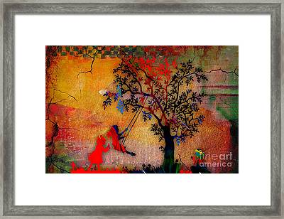 Swinging On A Tree Framed Print by Marvin Blaine