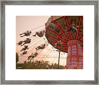 Swings At Kennywood Park Framed Print by Carrie Zahniser