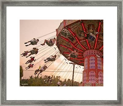 Swings At Kennywood Park Framed Print by Carrie Zahniser