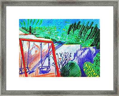 Swingset Framed Print by Anita Dale Livaditis