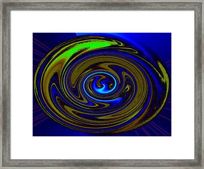 Swirl Framed Print by Claire Hull