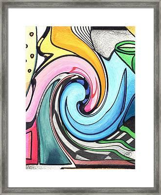 Swirled Framed Print by Helena Tiainen