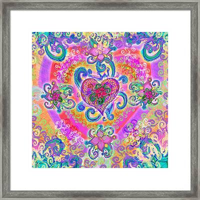 Swirley Heart Variant 1 Framed Print by Alixandra Mullins