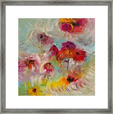 Swirling Flowers Framed Print by Jim Tucker