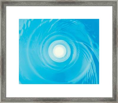 Swirling Water In Blue, Full Frame Framed Print by Panoramic Images