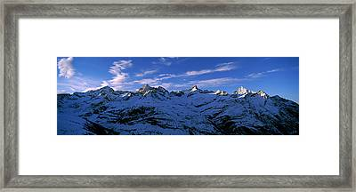 Swiss Alps From Gornergrat, Switzerland Framed Print by Panoramic Images