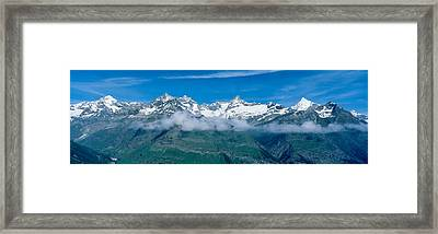 Swiss Alps, Switzerland Framed Print by Panoramic Images