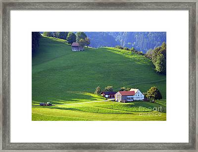 Swiss Farm House Framed Print by Susanne Van Hulst