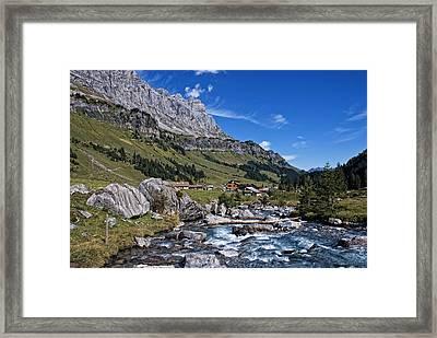 Swiss Mountains Framed Print by Joachim G Pinkawa