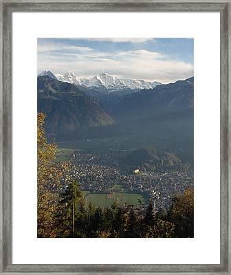 Swiss Scenary Framed Print by Marcio Faustino