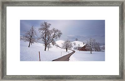 Switzerland, Canton Of Zug, Linden Framed Print by Panoramic Images