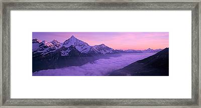 Switzerland, Swiss Alps, Aerial View Framed Print by Panoramic Images