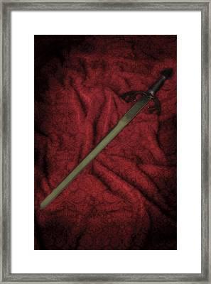 Sword Framed Print by Joana Kruse