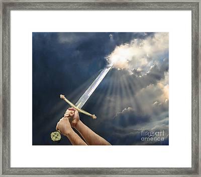 Sword Of The Spirit Framed Print by Tamer and Cindy Elsharouni