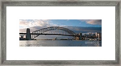 Sydney Harbour Bridge At Dawn.  Art Photo Digital Download And Wallpaper Screensaver. Diy Print. Framed Print by Geoff Childs