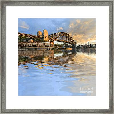 Sydney Harbour Bridge Australia Spectacular Early Morning Light Framed Print by Colin and Linda McKie