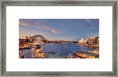 Sydney Harbour By Night Framed Print by Colin and Linda McKie