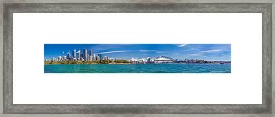 Sydney Harbour Skyline 1 Framed Print by Az Jackson