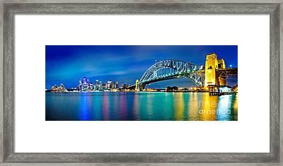 Sydney Icons Framed Print by Az Jackson