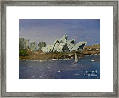 Sydney Opera House Framed Print by Pamela  Meredith