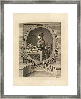 Sydney Parkinson Framed Print by British Library