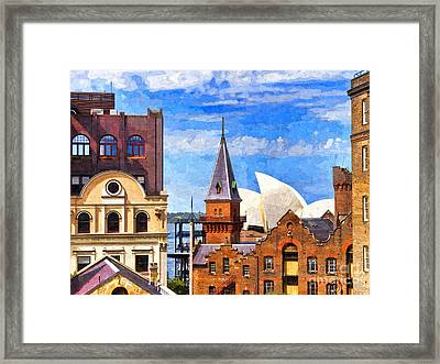 Sydney The Rocks And Opera House Framed Print by Colin and Linda McKie