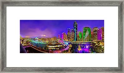 Sydney Vivid Festival Framed Print by Az Jackson
