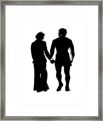Sylvester Stallone And Talia Shire In Rocky Framed Print by Jim Fitzpatrick