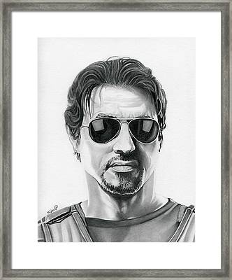 Sylvester Stallone - The Expendables Framed Print by Fred Larucci