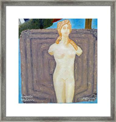 Symbol Of Fertility And Goddess Aphrodite Framed Print by Augusta Stylianou