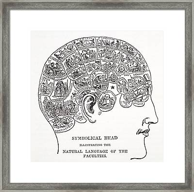 Symbolical Head Showing The Natural Framed Print by English School