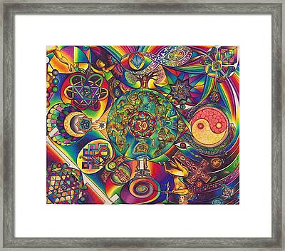 Symbologeo D Framed Print by DiNo