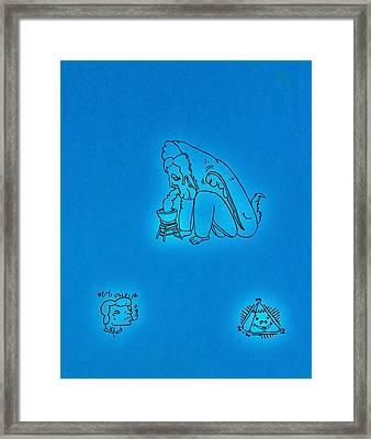Symbols Framed Print by Ryan Klass