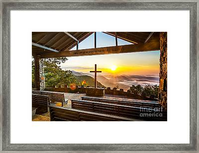 Symmes Chapel Sunrise  Framed Print by Anthony Heflin