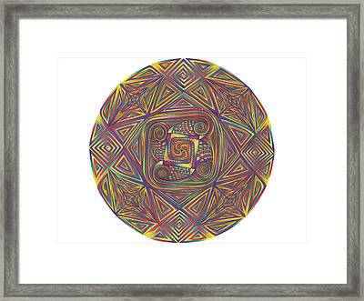 Symmetry Four Framed Print by diNo