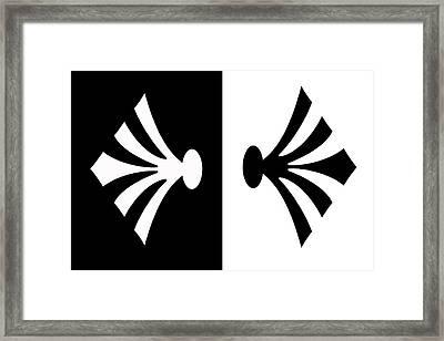 Symmetry In Black And White Digital Painting Framed Print by Georgeta Blanaru