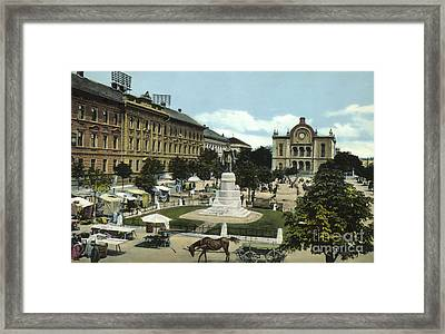 Synagogue Pecs Hungary 1915 Framed Print by Vintage Printery