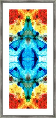 Synchronicity - Colorful Abstract Art By Sharon Cummings Framed Print by Sharon Cummings
